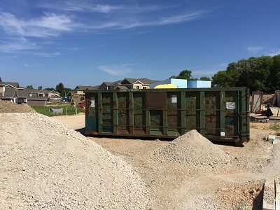 Rent a 12-yard dumpster for concrete